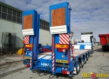 Extendable 4 axle lowbed trailers